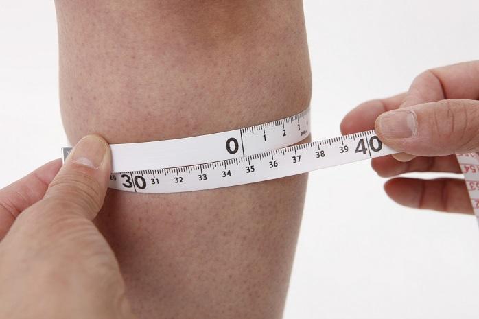 ふくらはぎの太さを測る