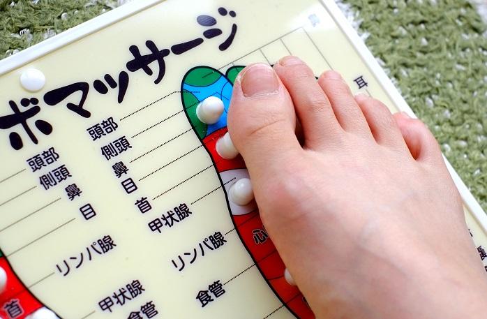 足つぼマッサージの足つぼと体の部位の対応図